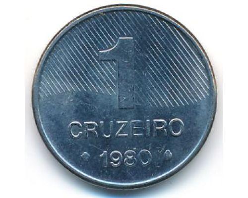 1 крузейро 1980 год Бразилия Сахарный Тростник