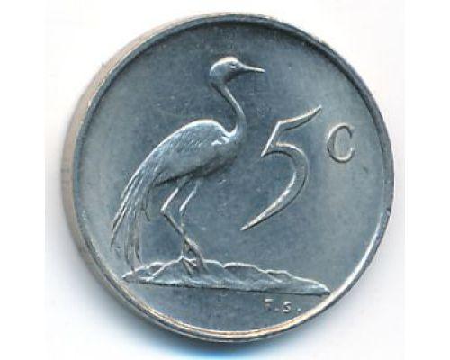 5 центов 1977 год ЮАР