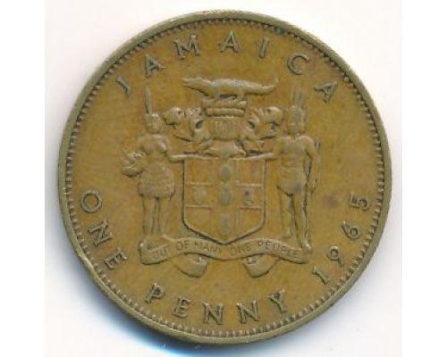 1 пенни 1965 год Ямайка Елизавета II