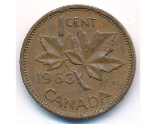 1 цент 1963 год Канада
