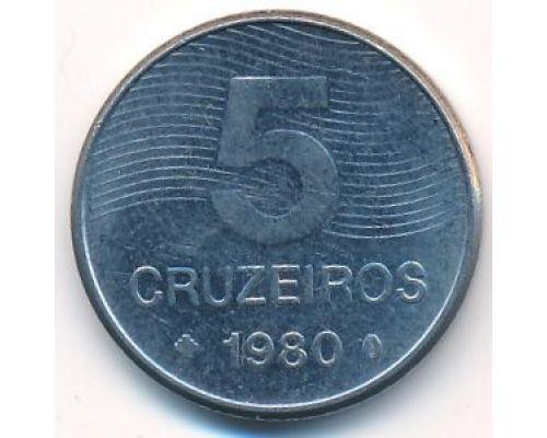5 крузейро 1980 год Бразилия