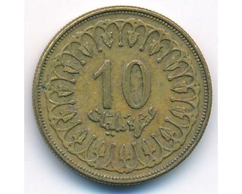 10 миллим 1997 год Тунис