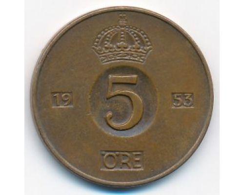 5 эре 1953 год Швеция