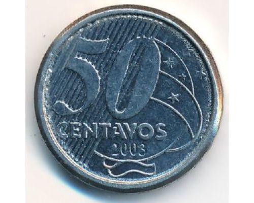 50 сентаво 2003 год Бразилия