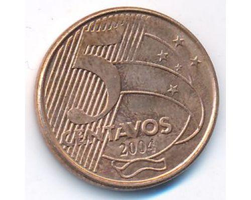 5 сентаво 2004 год Бразилия