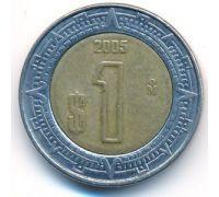 1 новый песо 2005 год Мексика