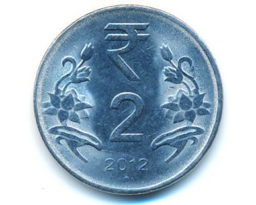 2 рупии 2013 год Индия