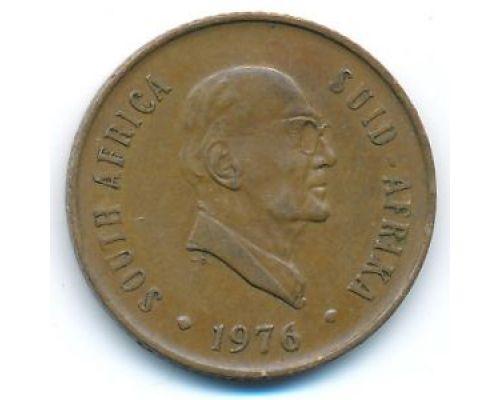 2 цента 1976 год ЮАР Якобус Йоханнес Фуше