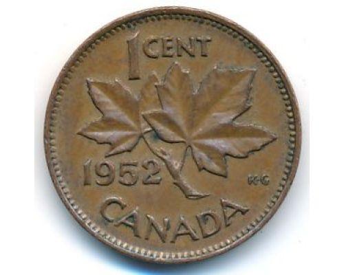 1 цент 1952 год Канада Георг VI