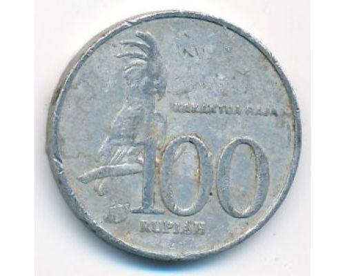 100 рупий 2001 год Индонезия Какаду Состояние F