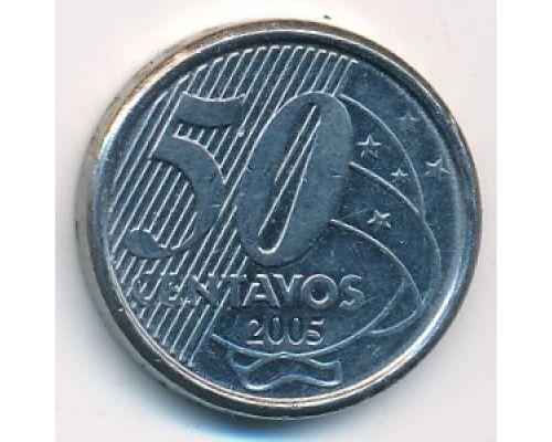 50 сентаво 2005 год Бразилия