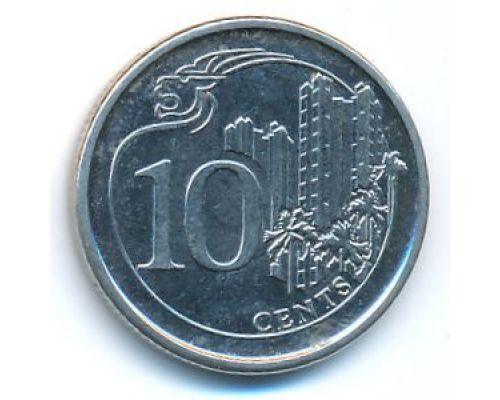 10 центов 2013 год Сингапур