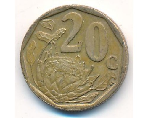 20 центов 2008 год ЮАР