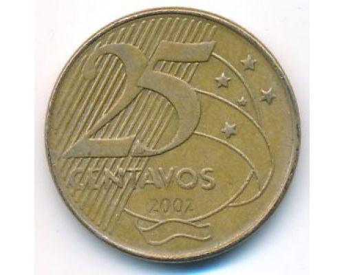 25 сентаво 2002 год Бразилия