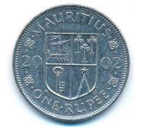 1 рупия 2002 год Маврикий Сивусагур Рамгулам