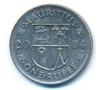 1 рупия 2004 год Маврикий Сивусагур Рамгулам