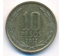 10 песо 2012 год Чили