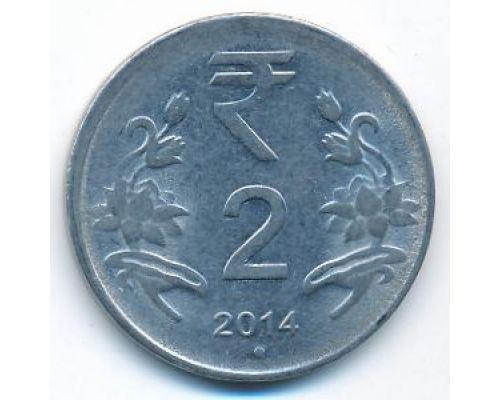 2 рупии 2014 год Индия