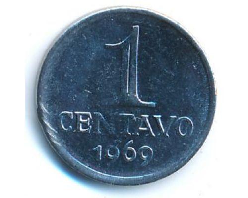 1 сентаво 1969 год Бразилия