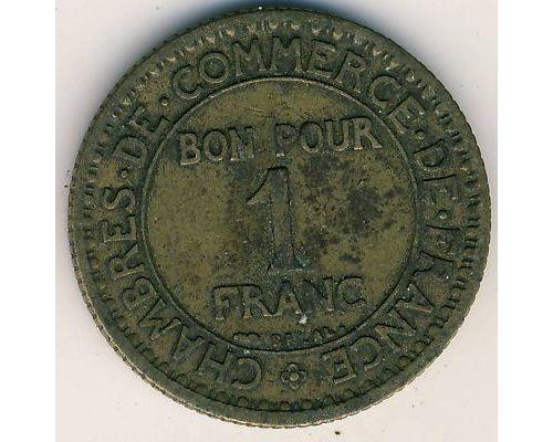 1 франк 1923 год Франция Состояние VG