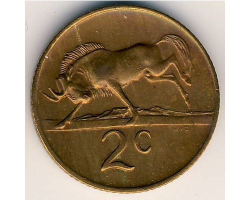 2 цента 1979 год ЮАР