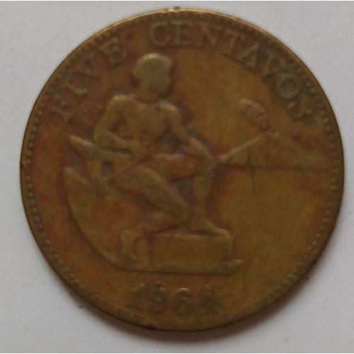 5 сентаво 1964 год Филиппины