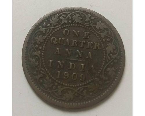 1/4 анны 1909 год Британская Индия Эдуард VII