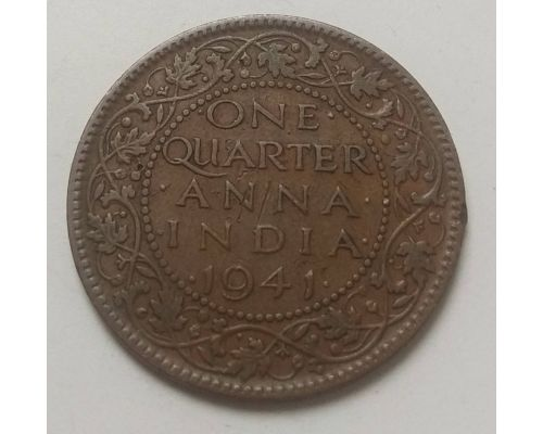 1/4 анны 1941 год Британская Индия Георг VI