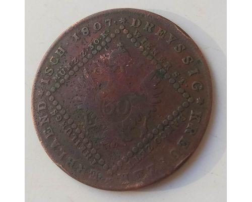 30 крейцеров 1807 год А Австрия состояние F