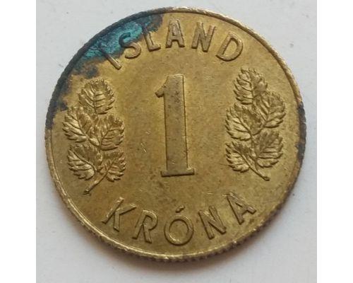 1 крона 1963 год Исландия