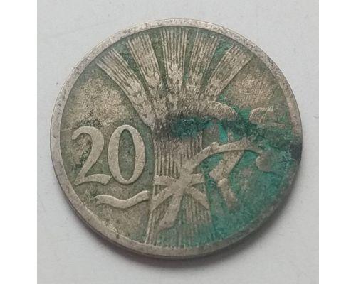20 гелеров 1921 год Чехословакия Состояние VG