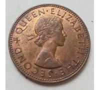 1/2 пенни 1965 год Новая Зеландия