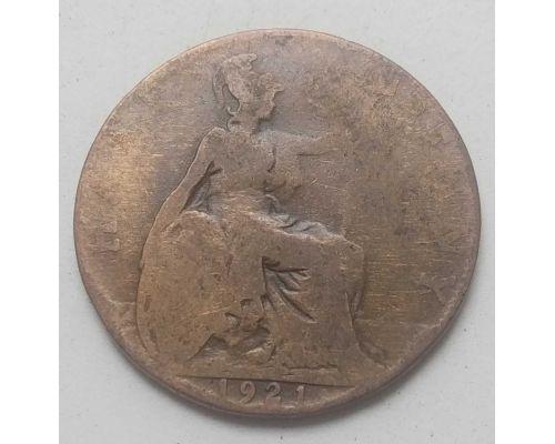 1/2 пенни 1921 год Великобритания Пол пенни, half penny Эдвард VII