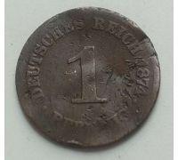 1 пфенниг 1874 год C Германия (Германская Империя) Состояние VG