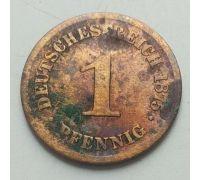 1 пфенниг 1875 год B Германия (Германская Империя) Состояние VG