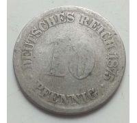 10 пфеннигов 1875 год Германия (Германская Империя) Состояние G