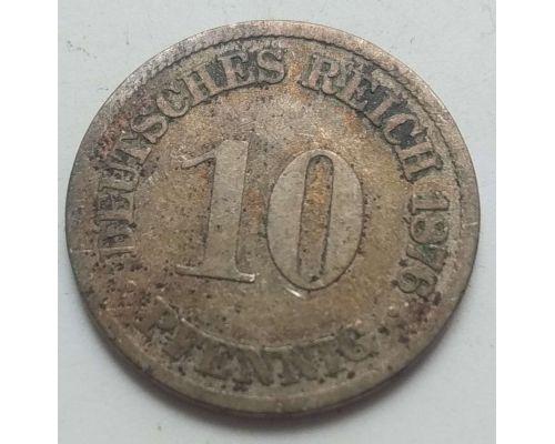 10 пфеннигов 1876 год Германия (Германская Империя) Состояние G