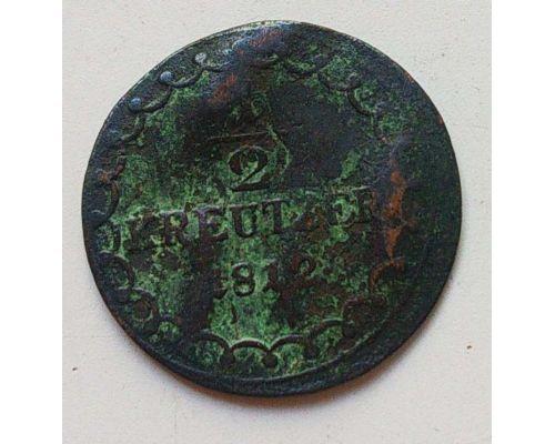 1/2 крейцера 1812 год Австрия S