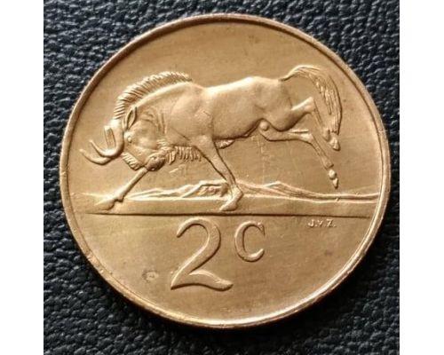 2 цента 1990 год ЮАР Антилопа ГНУ