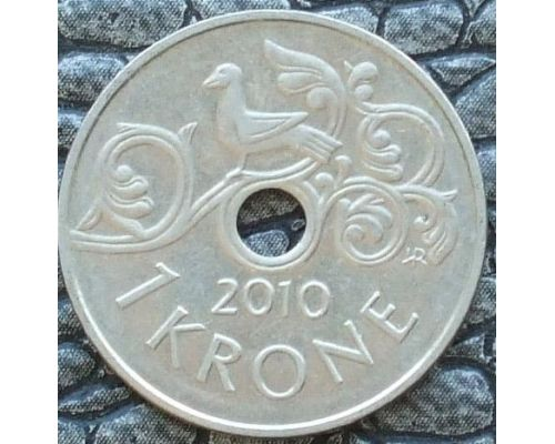 1 крона 2010 год Норвегия