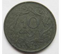 10 грошей 1923 Польша Цинк