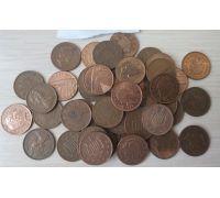 1 пенни Великобритания 1971-2016  Погодовка Полный набор! 45 шт!