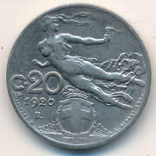 20 чентезимо 1920 года Италия . Состояние