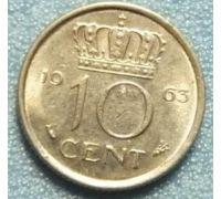 10 центов 1950-1980 года. Нидерланды