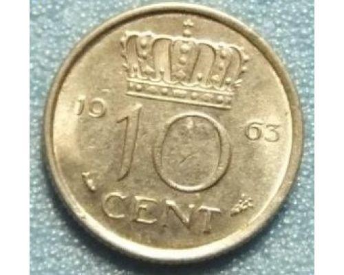 10 центов 1950-1980 года Нидерланды