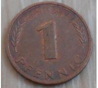 1 пфенниг (1950–2001 г) Германия ФРГ