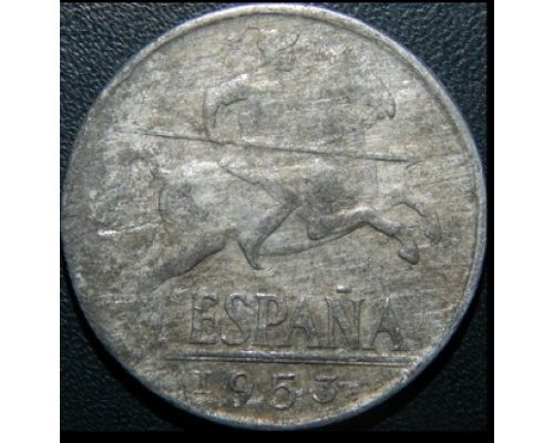 10 центов 1953 год Испания