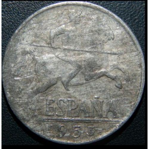 10 центов 1953 год. Испания