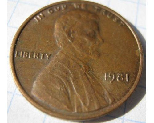 1 цент 1981 года США Америка