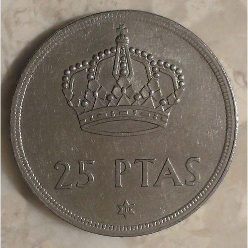 25 песет 1975 год. Испания (80.79)